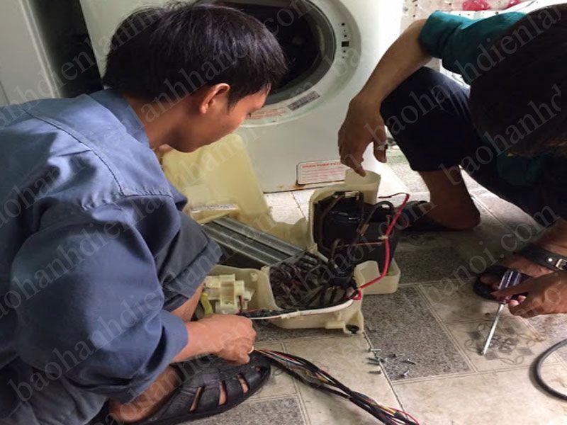 Quy trình làm việc của Trung tâm sửa chữa máy giặt nội địa Nhật Bãi tại Long Biên